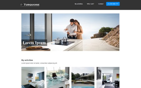 Turquoise Free Premium HTML5 Template