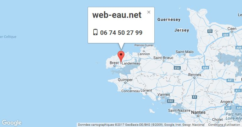Carte Google Implentation web-eau.net
