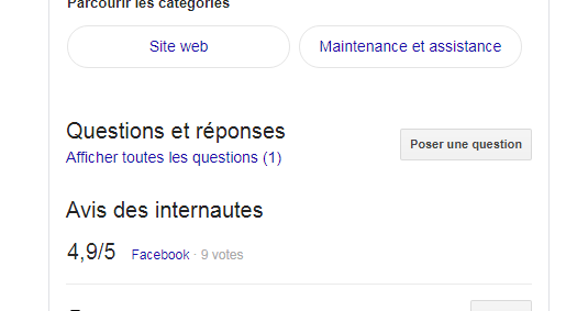 Google My Business questions réponses