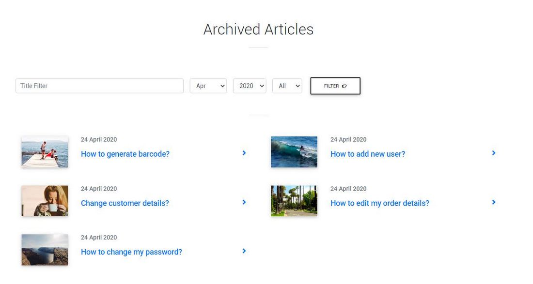 Joomla 4 Archived articles frontend display