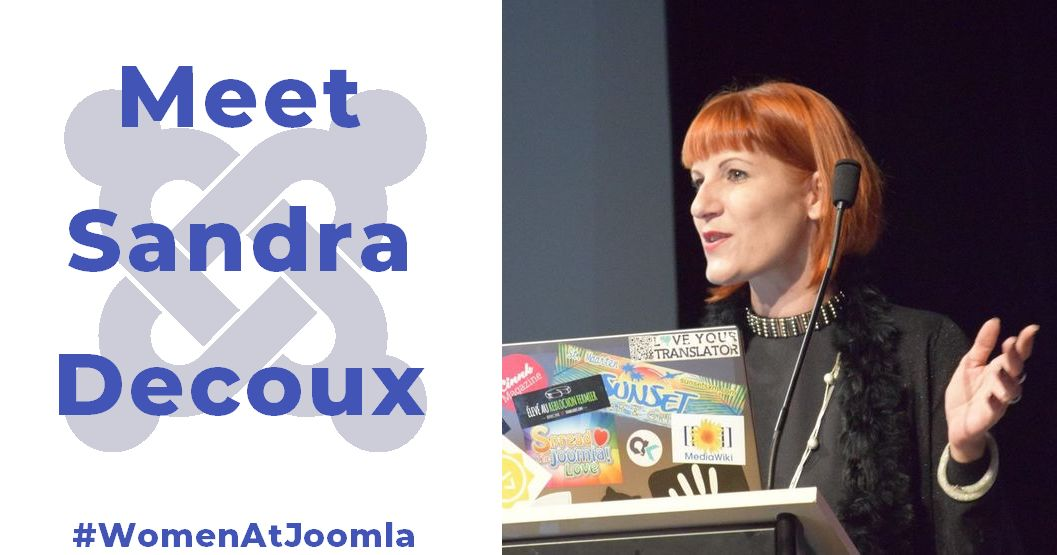Women at Joomla - Sandra Decoux