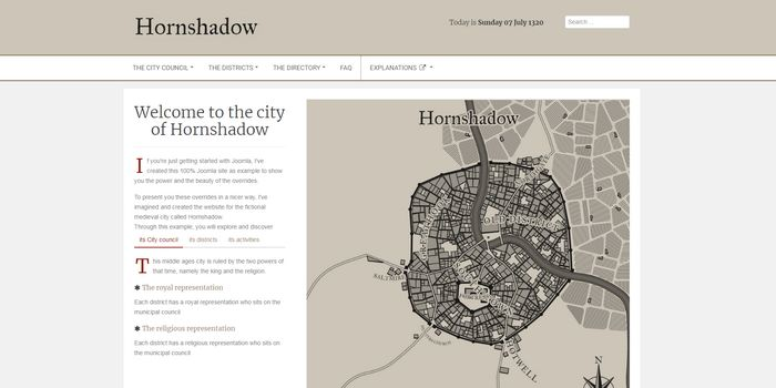 Joomla Hornshadow project