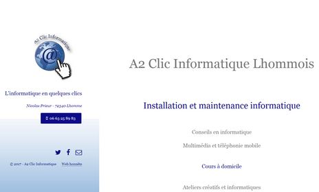 Site A2 Clics Informatique