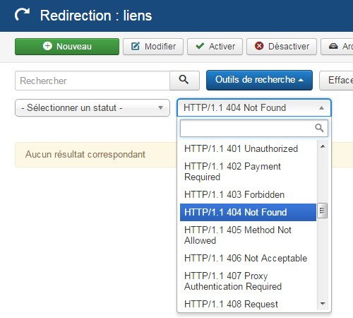 Composant redirection Joomla!