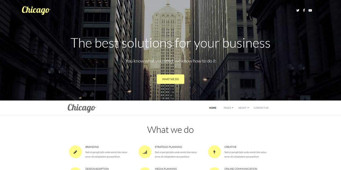 Chicage Joomla Template