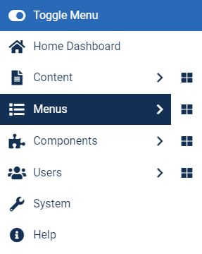 Joomla - Creating a menu item