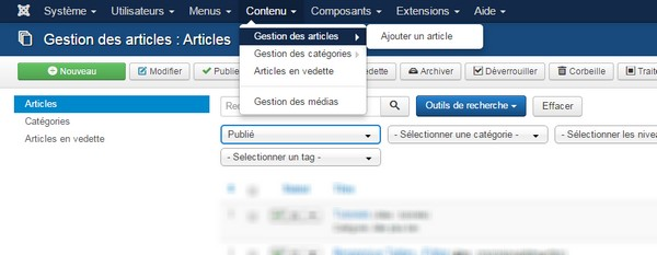 Article Joomla