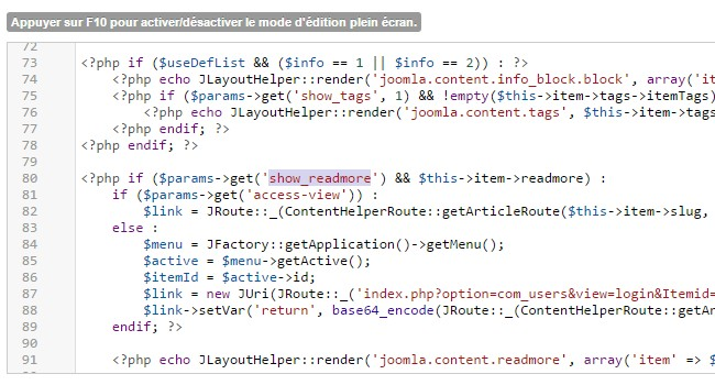 Modifications avancées son template Joomla!